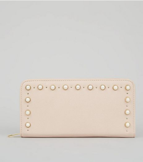 Pink Pearl Stud Purse | New Look