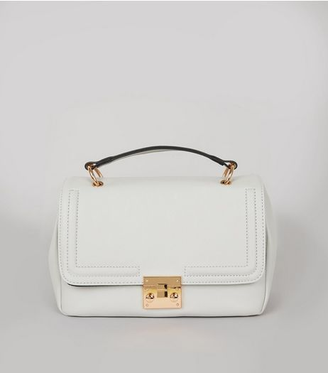 Grey Handle Top Satchel  | New Look