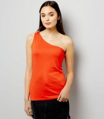 Orange Off the Shoulder Vest