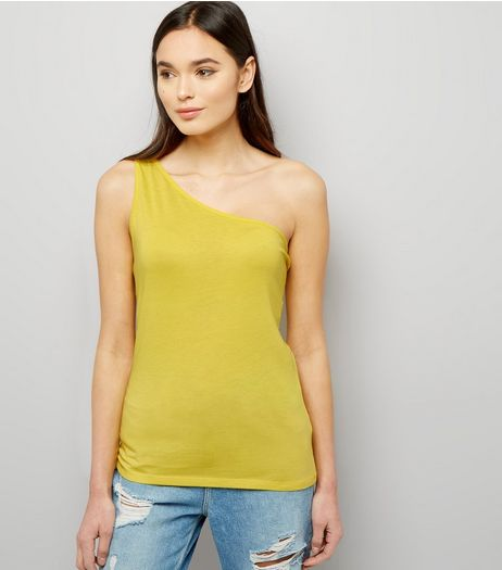 Yellow Off the Shoulder Vest | New Look