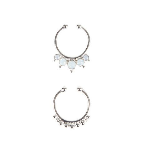 2 Pack Silver Septum Rings | New Look