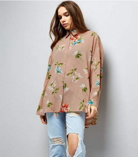 Cameo Rose Stone Floral Shirt | New Look