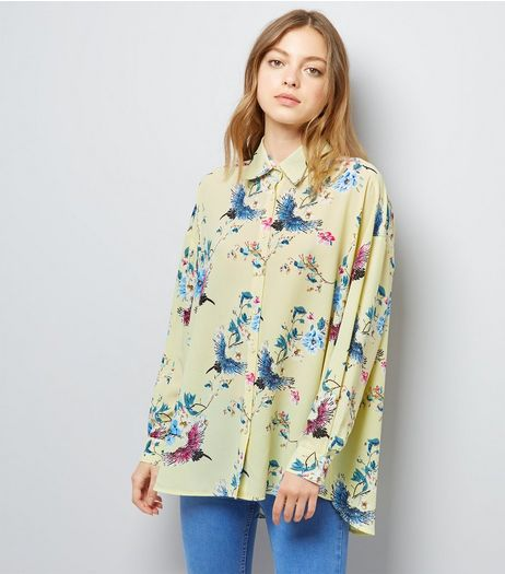 Cameo Rose Yellow Floral Print Shirt | New Look