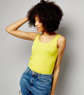 Neon Yellow Scoop Neck Vest