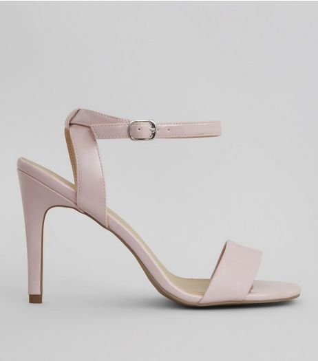 Pink Patent Ankle Strap Heels | New Look