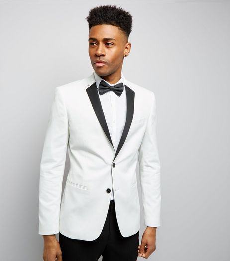 White Tux Jacket | New Look