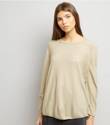 JDY Stone Ribbed Jumper  | New Look