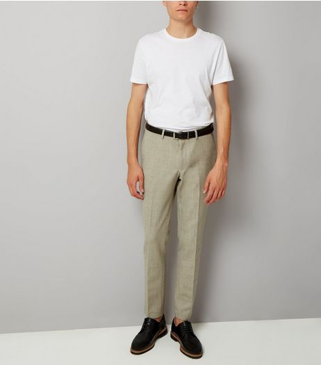 Stone Warm Handle Skinny Fit Trousers | New Look