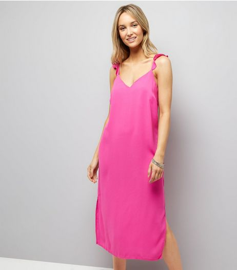 Pink Frill Trim Strap Slip Dress | New Look