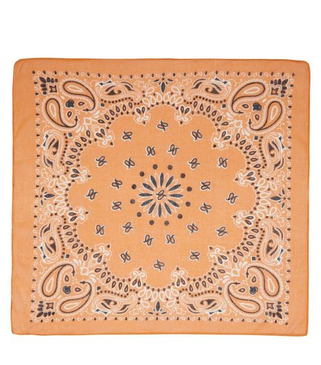 Orange Paisley Print Bandana | New Look
