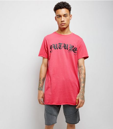 Pink Future Print T-Shirt | New Look