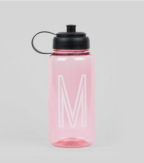 Pink Initial M Water Bottle | New Look