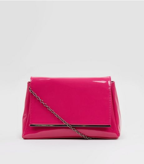 Pink Patent Shoulder Bag | New Look