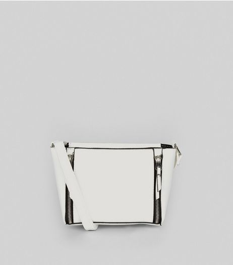 White Double Zip Mini Cross Body Bag | New Look