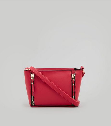Pink Double Zip Mini Cross Body Bag | New Look