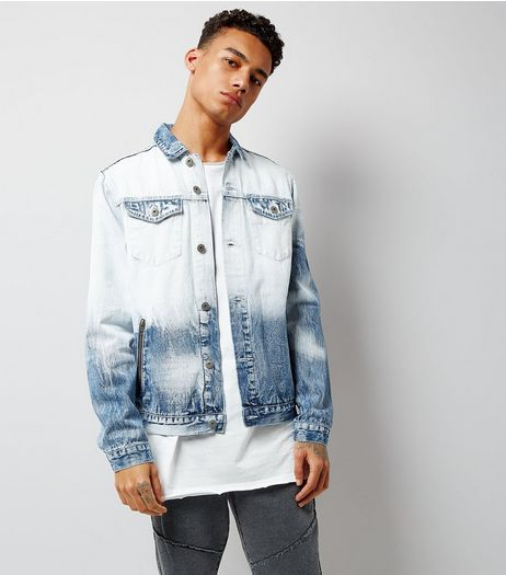 Blue Tie Dye Denim Jacket | New Look