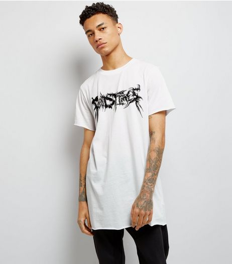 White Good Times Printed T-Shirt | New Look