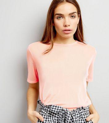Pink Mesh Back T-Shirt