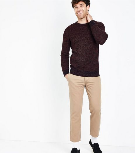 Stone Cropped Slim Leg Chinos | New Look