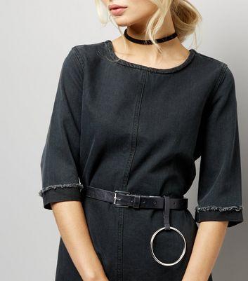 Black Loop Drop Jeans Belt