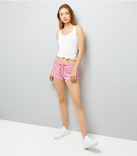 Bright Pink Jersey Shorts | New Look