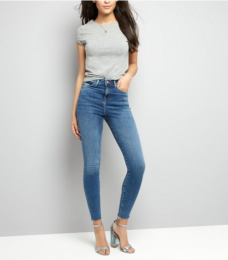 Tall Blue Skinny Shaper Jeans | New Look