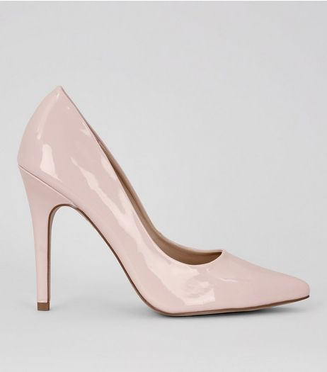 Pink Patent Pointed Court Shoe | New Look