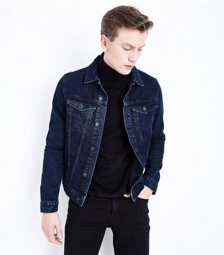 Dark Blue Denim Jacket | New Look
