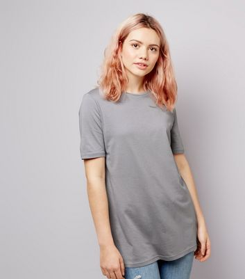 Pale Grey Ring Back Short Sleeve T-Shirt