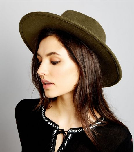 Khaki Fedora Hat | New Look