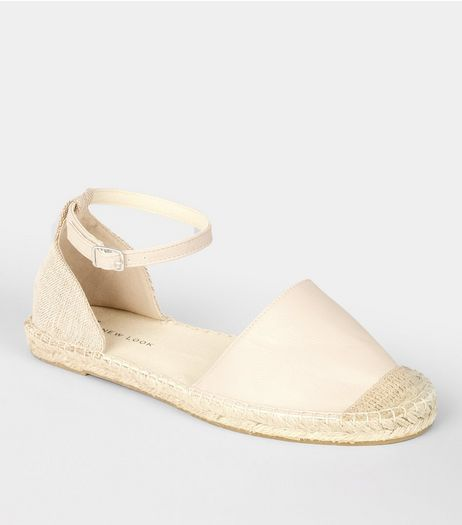 Wide Fit Nude Pink Espadrille Sandals | New Look