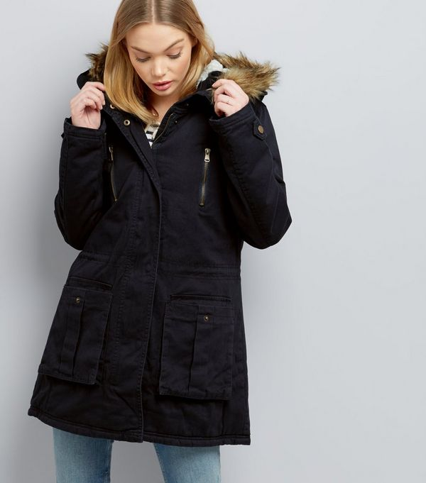 Ladies fur lined hooded coats – Modern fashion jacket photo blog