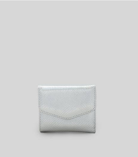 Silver Metallic Small Fold Over Purse | New Look