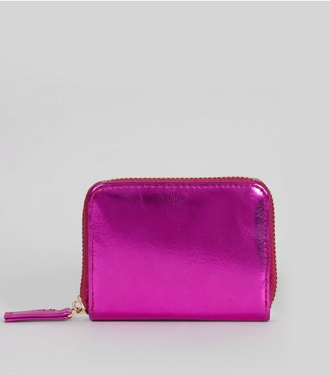 Pink Metallic Cardholder  | New Look