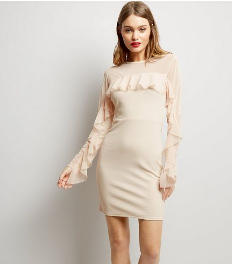 Pink Vanilla Pink Frill Trim Sleeve Bodycon Dress | New Look