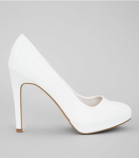 White Platform Court Shoes | New Look