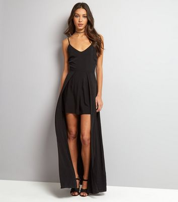 Black 2 in 1 Maxi Playsuit