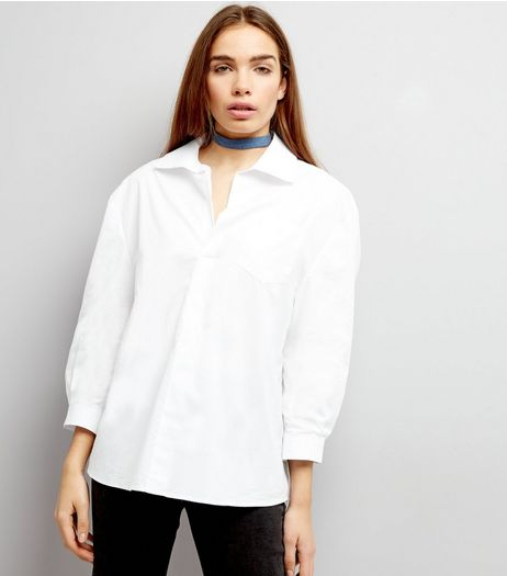 Cameo Rose White Pullover Shirt  | New Look