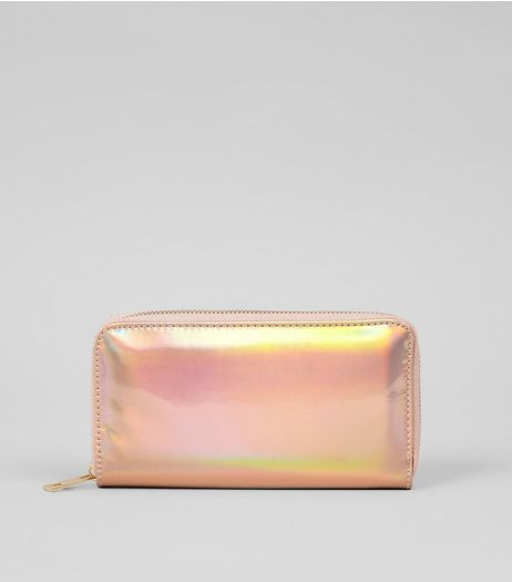 Rose Gold Holographic Purse  | New Look