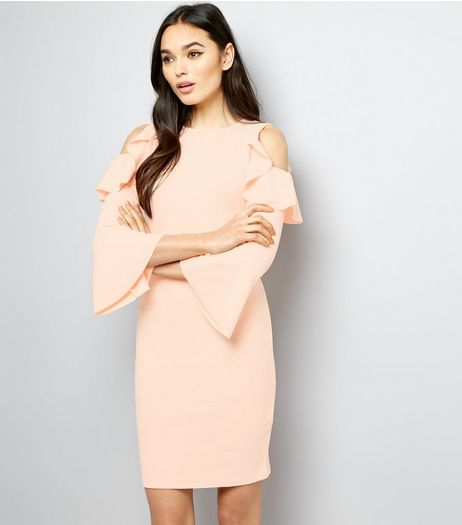 Pink Vanilla Shell Pink Cold Shoulder Bodycon Dress | New Look