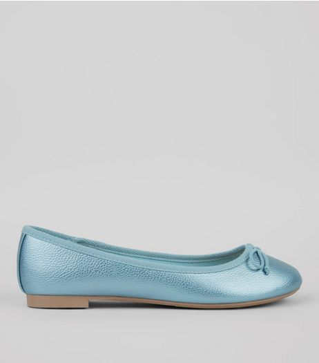 Blue Metallic Pumps | New Look