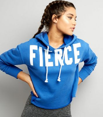Blue Fierce Printed Hoodie