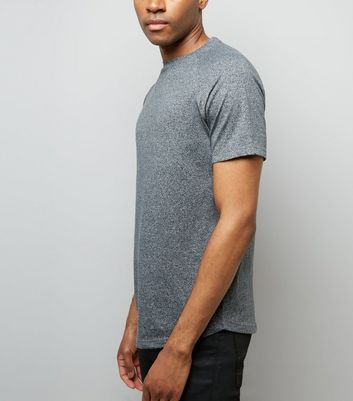 Grey Marl Short Raglan Sleeve T-Shirt