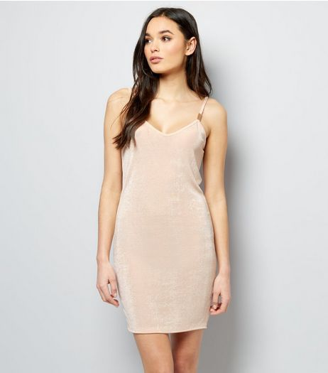 Pink Vanilla Shell Pink Iridescent Bar Back Slip Dress | New Look