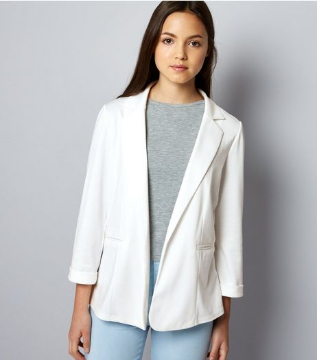 Teens White Blazer  | New Look