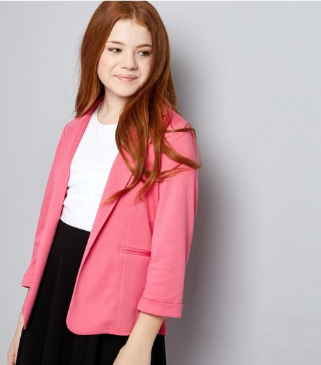 Teens Pink Blazer | New Look