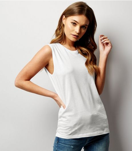 White Cotton Tank Top | New Look