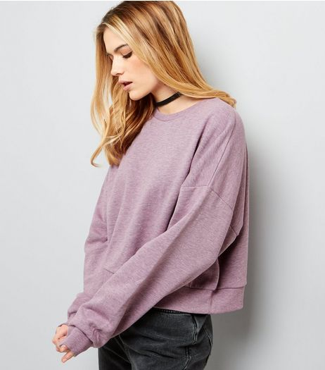 Pink Overdyed Cropped Sweater | New Look