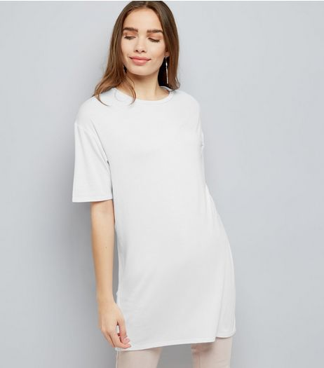 White Longline T-Shirt | New Look