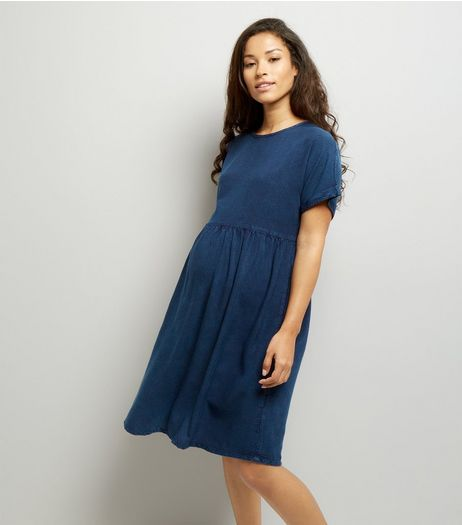 Maternity Blue Smock Dress | New Look